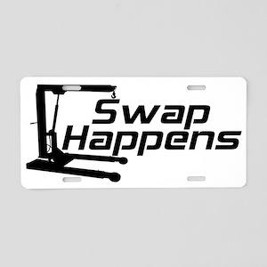 Swap Happens Aluminum License Plate