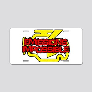 Emissions Impossible Aluminum License Plate