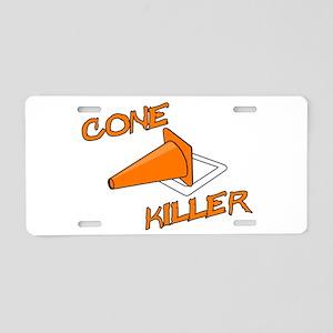 Cone Killer Aluminum License Plate