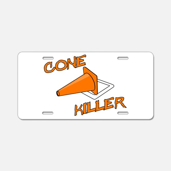 Cone Killer Aluminum License Plate