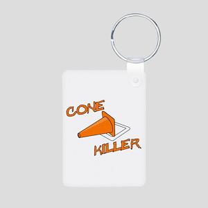 Cone Killer Aluminum Photo Keychain