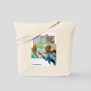 Wild West Horses & Guns Tote Bag