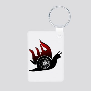 Boost Snail Aluminum Photo Keychain