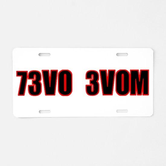 73V0 3V0M Aluminum License Plate