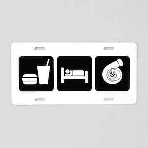 Eat Sleep Boost Aluminum License Plate