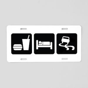 Eat Sleep Drift Aluminum License Plate