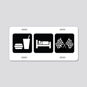 Eat Sleep Race Aluminum License Plate