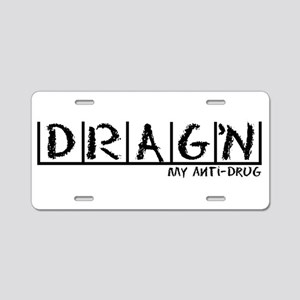 Drag'n Anti-Drug Aluminum License Plate