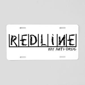 Redline Anti-Drug Aluminum License Plate