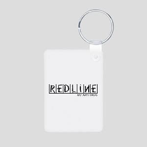Redline Anti-Drug Aluminum Photo Keychain