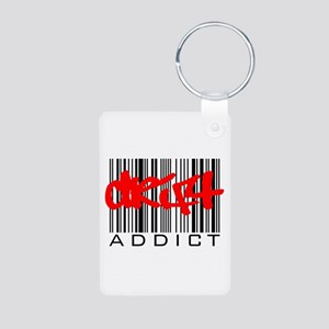 Drift Addict Aluminum Photo Keychain