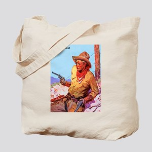 Wild West Cowboy with Two Guns Tote Bag