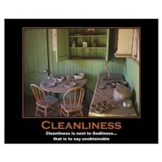 Cleanliness Canvas Art