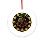 Baphomet2 Ornament (Round)