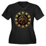 Baphomet2 Women's Plus Size V-Neck Dark T-Shirt
