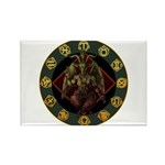 Baphomet2 Rectangle Magnet (100 pack)