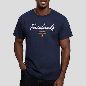 Fairbanks Script Men's Fitted T-Shirt (dark)