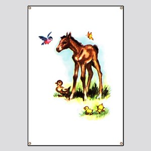 Baby Horse Pony Foal Filly Banner