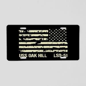 USS Oak Hill Aluminum License Plate
