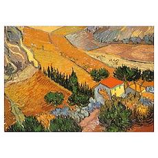 Van Gogh Valley Ploughman Poster