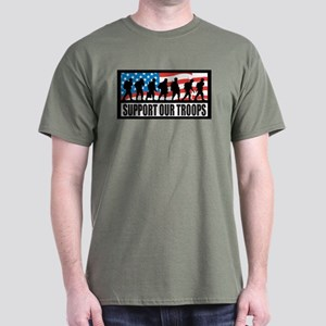 Support our troops - Infantry Dark T-Shirt