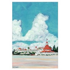 Hotel del Coronado Painting Canvas Art