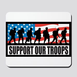 Support our troops - Infantry Mousepad