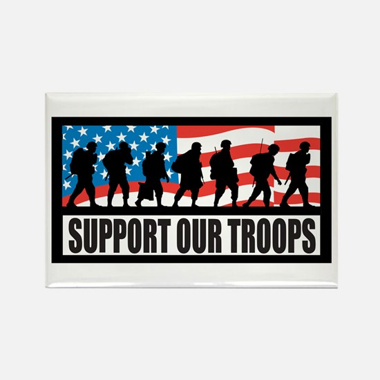 Support our troops - Infantry Rectangle Magnet (10