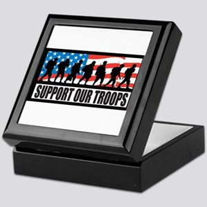 Support our troops - Infantry Keepsake Box