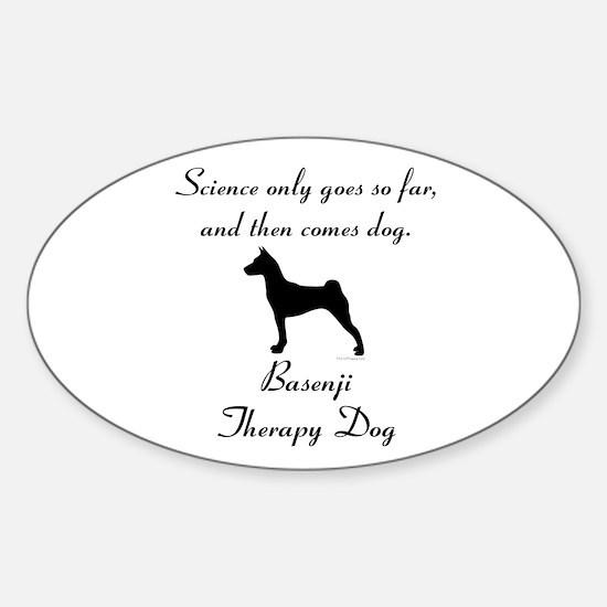 Basenji Therapy Dog Sticker (Oval)