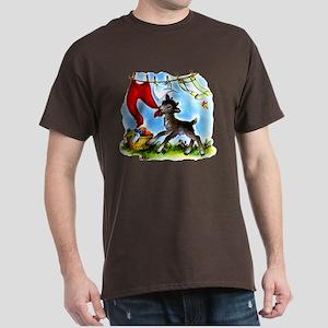 Funny Clothesline Goat Dark T-Shirt
