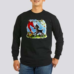 Funny Clothesline Goat Long Sleeve Dark T-Shirt