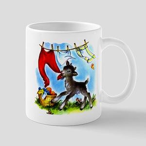 Funny Clothesline Goat Mug