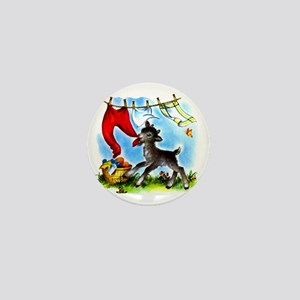 Funny Clothesline Goat Mini Button
