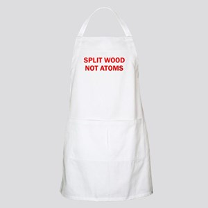 SPLIT WOOD NOT ATOMS Apron
