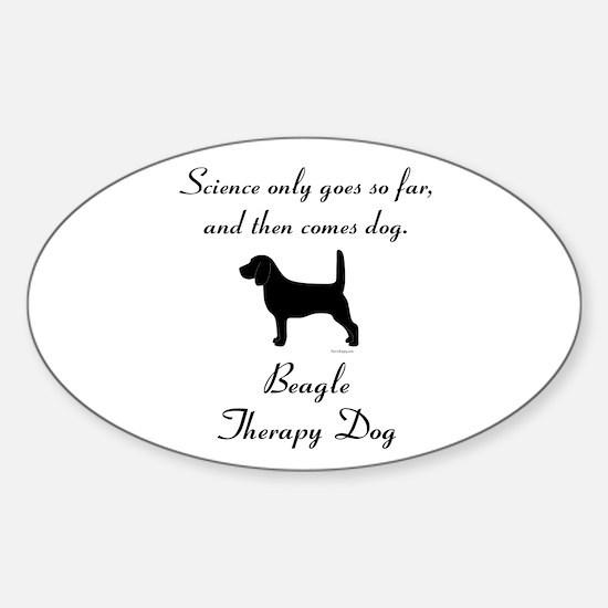 Beagle Therapy Dog Sticker (Oval)