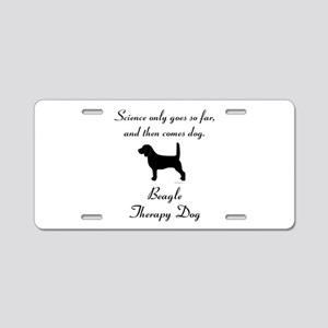 Beagle Therapy Dog Aluminum License Plate