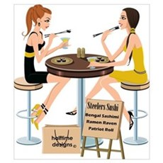 Steelers Sushi Girls Poster