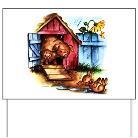 Piggy Piglets Baby Pigs Yard Sign