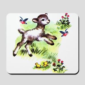 Cute Baby Lamb Sheep Mousepad