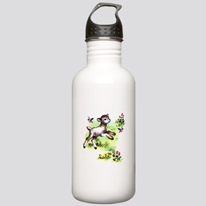 Cute Baby Lamb Sheep Stainless Water Bottle 1.0L