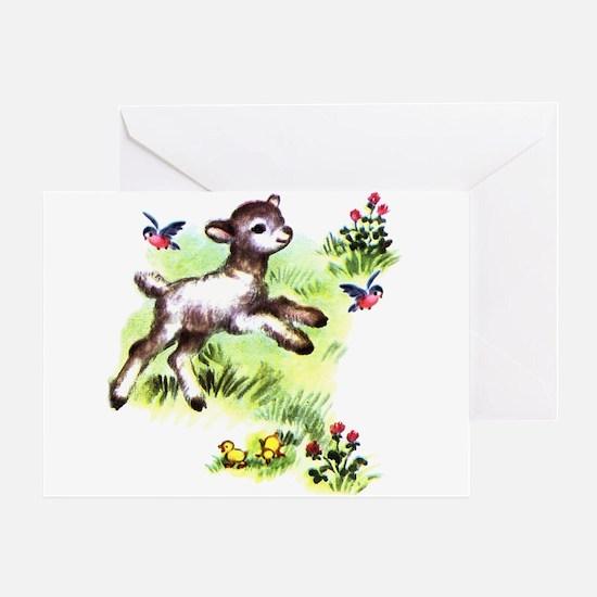 Cute Baby Lamb Sheep Greeting Card