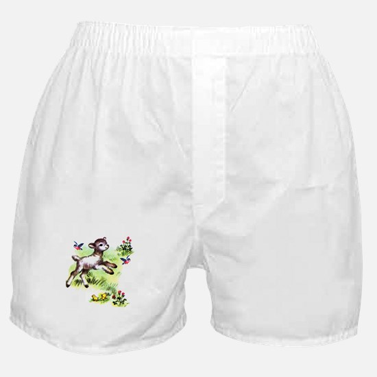 Cute Baby Lamb Sheep Boxer Shorts