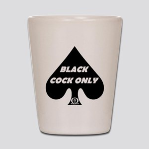 Black Cock Only Spade Shot Glass