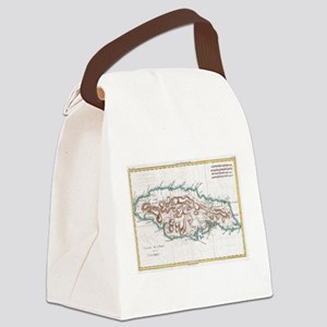 Vintage Map of Jamaica (1780) 2 Canvas Lunch Bag