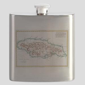 Vintage Map of Jamaica (1780) 2 Flask