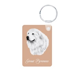 Gtreat Pyrenees Keychains,pink