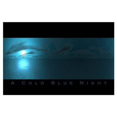 A Cold Blue Night Poster