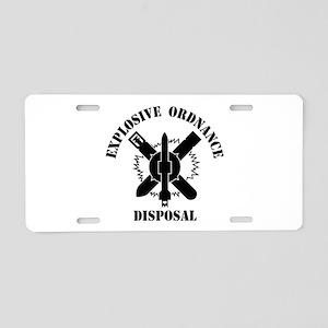 EOD logo Aluminum License Plate