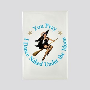 Dance Naked Under the Moon Rectangle Magnet